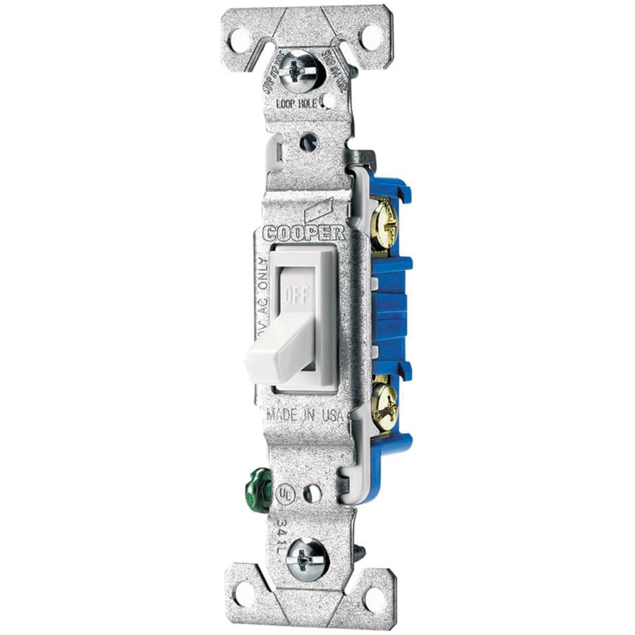 hight resolution of eaton 15 amp single pole white toggle residential light switch at cooper wiring diagram single pole light switch