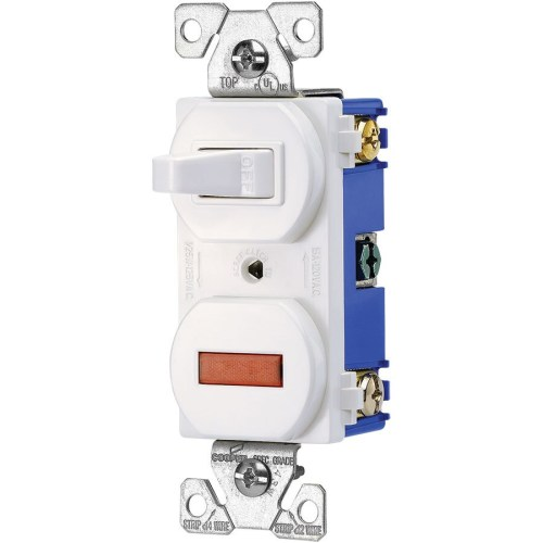 small resolution of eaton 15 amp single pole white combination pilot light commercial light switch