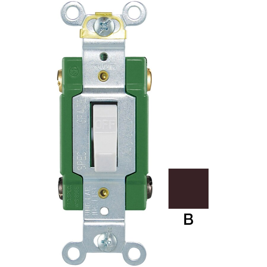 medium resolution of eaton 30 amp double pole brown toggle industrial light switch