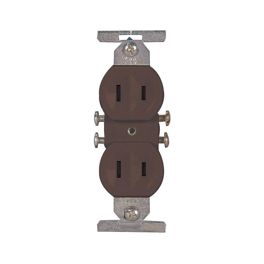 medium resolution of eaton brown 15 amp duplex residential outlet