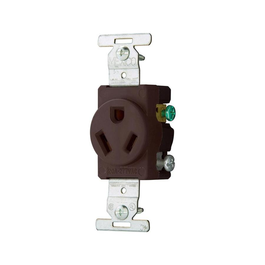 hight resolution of eaton brown 20 amp round commercial outlet