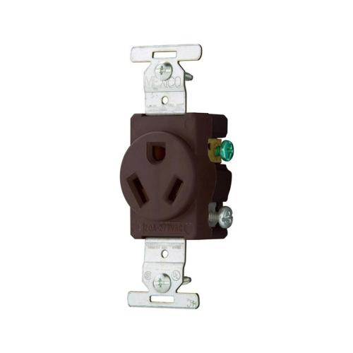 small resolution of eaton brown 20 amp round commercial outlet