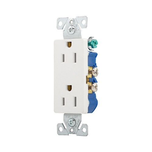 small resolution of eaton white 15 amp decorator residential outlet