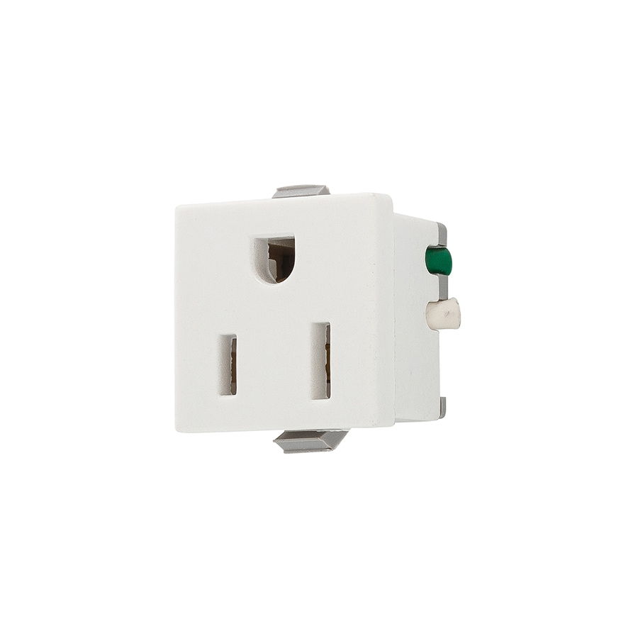 hight resolution of eaton white 15 amp square residential outlet