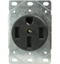 cooper wiring devices 60amp 125 250volt black 4wire grounding plug shop cooper wiring devices 50amp 125 250volt black 3wire plug at [ 900 x 900 Pixel ]