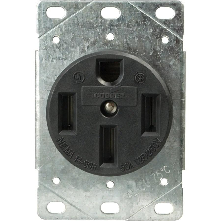 medium resolution of cooper wiring devices 60amp 125 250volt black 4wire grounding plug shop cooper wiring devices 50amp 125 250volt black 3wire plug at