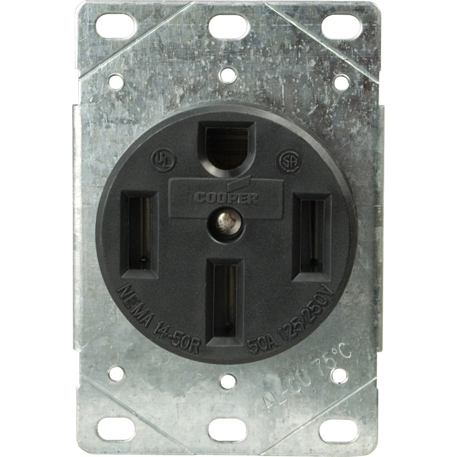 hight resolution of cooper wiring devices 60amp 125 250volt black 4wire grounding plug shop cooper wiring devices 50amp 125 250volt black 3wire plug at