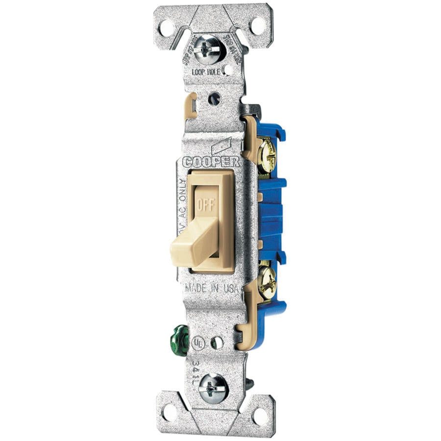 medium resolution of shop cooper wiring devices double pole ivory light switch at eaton 15 amp single pole ivory