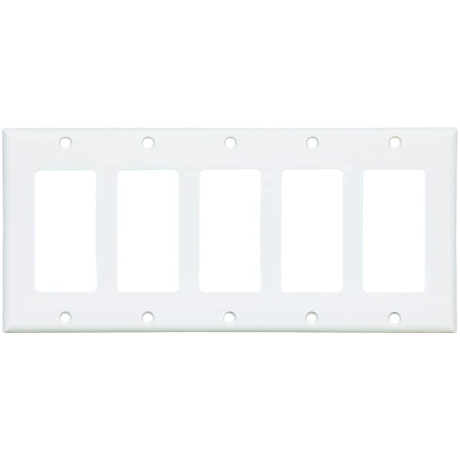 Shop Eaton 5-Gang White Decorator Wall Plate at Lowes.com