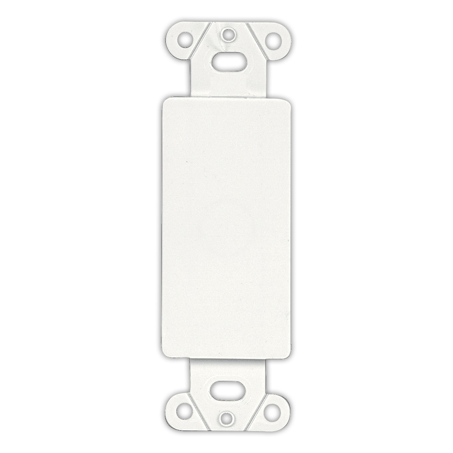 Shop Eaton 1-Gang White Blank Wall Plate Insert at Lowes.com