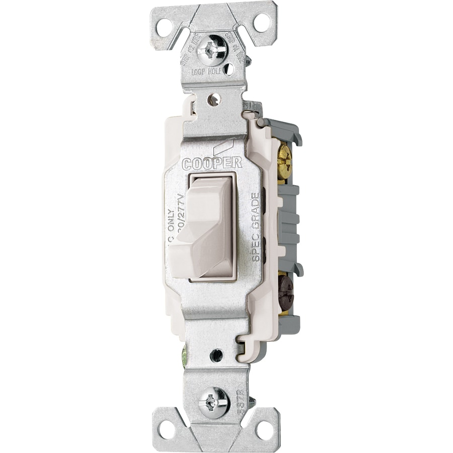 hight resolution of cooper wiring devices 3 way white commercial light switch at lowes com cooper light switch wiring diagram