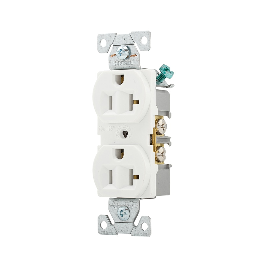 medium resolution of eaton white 20 amp duplex outlet commercial 10 pack