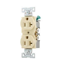 eaton ivory 20 amp duplex outlet commercial wall plate sold separately [ 900 x 900 Pixel ]