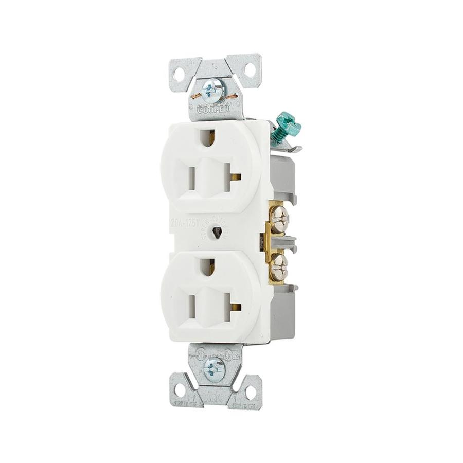 hight resolution of eaton white 20 amp duplex commercial outlet
