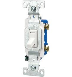 eaton 15 amp single pole white toggle illuminated residential light switch [ 900 x 900 Pixel ]