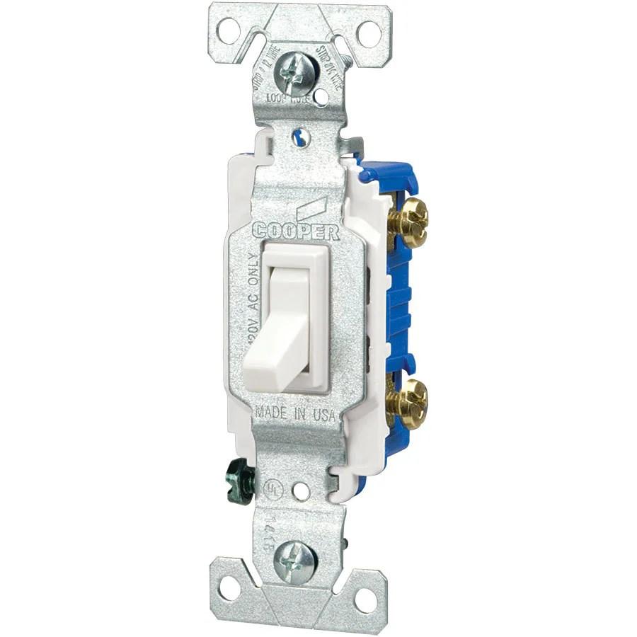 hight resolution of eaton 15 amp single pole white toggle illuminated residential light switch