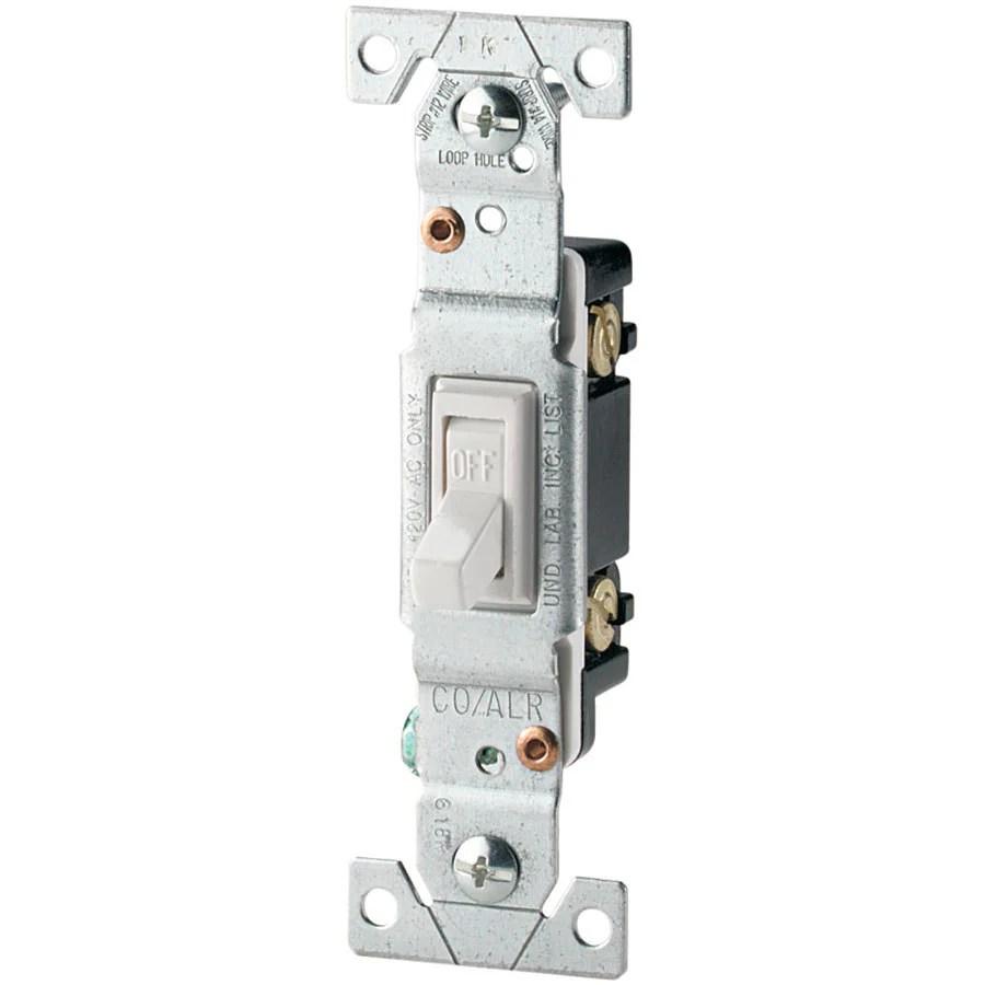 medium resolution of eaton 15 amp single pole white toggle residential light switch ateaton 15 amp single pole white