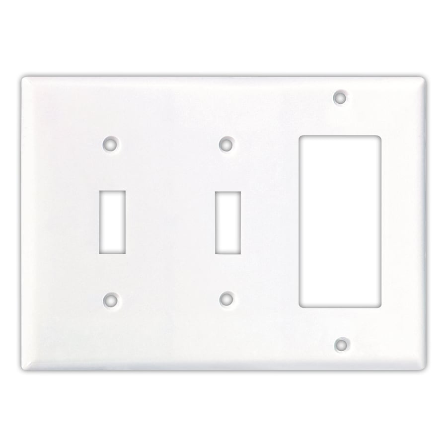 Cooper Wiring Devices 3-Gang White Wall Plate at Lowes.com
