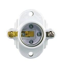 eaton 3 way 660 watt white hard wired cleat socket [ 900 x 900 Pixel ]