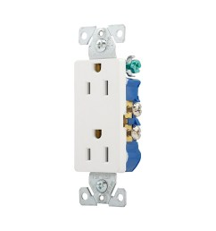 eaton white 15 amp decorator outlet residential 10 pack [ 900 x 900 Pixel ]
