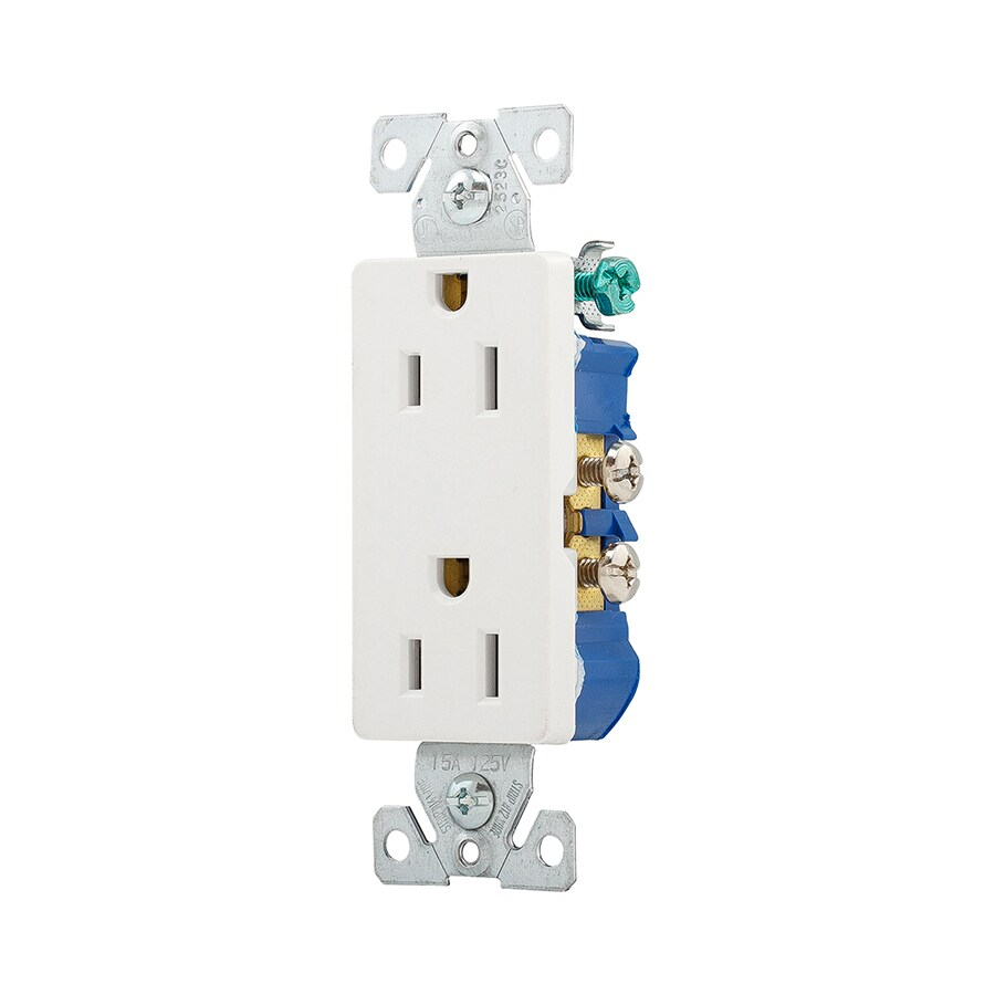 hight resolution of eaton white 15 amp decorator outlet residential 10 pack