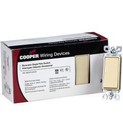 cooper wiring devices decorator single pole grounding switch 10 pack [ 1000 x 1000 Pixel ]