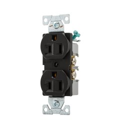 eaton black 15 amp duplex commercial outlet at lowes com 20 amp electrical outlet wiring cooper wiring devices 15 amp [ 900 x 900 Pixel ]