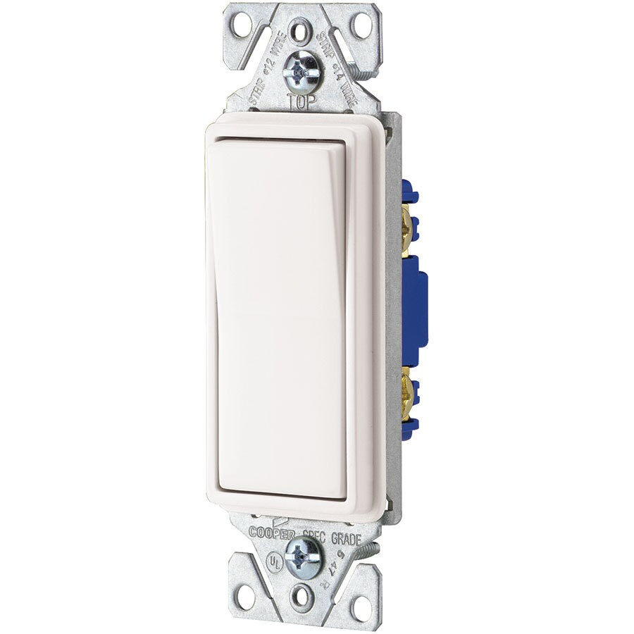 hight resolution of eaton 15 amp single pole white rocker light switch at lowes com rh lowes com led rocker switch wiring diagram 3 rocker switch wiring diagram