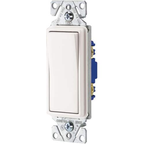 small resolution of eaton 15 amp single pole white rocker light switch at lowes com rh lowes com led rocker switch wiring diagram 3 rocker switch wiring diagram
