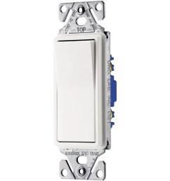 eaton 15 amp single pole 3 way white rocker light switch [ 900 x 900 Pixel ]