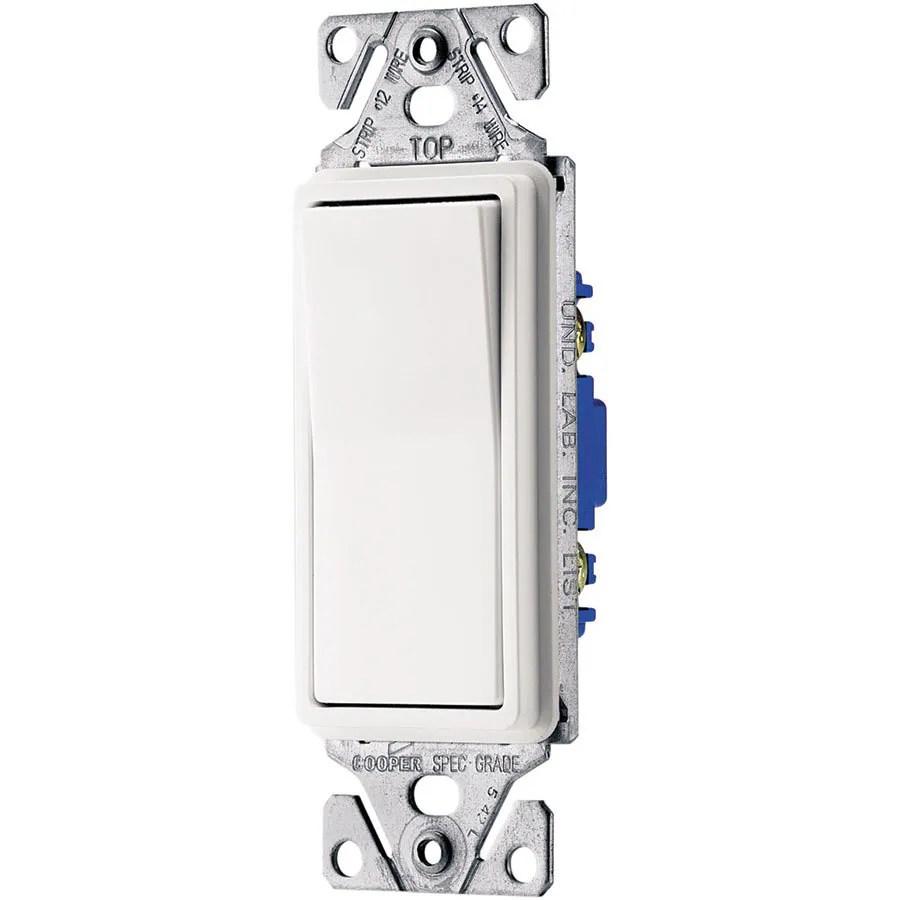 medium resolution of eaton 15 amp single pole 3 way white rocker light switch