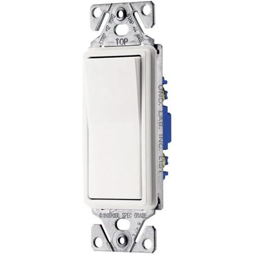 small resolution of eaton 15 amp single pole 3 way white rocker light switch