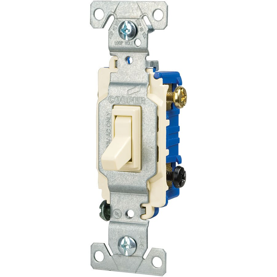 hight resolution of eaton 15 amp 3 way light almond toggle illuminated residential light shop cooper wiring devices 15amp light almond 3way light switch at