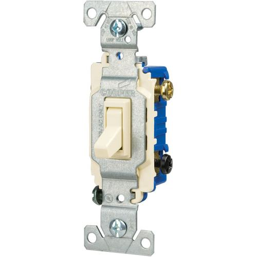 small resolution of eaton 15 amp 3 way light almond toggle illuminated residential light shop cooper wiring devices 15amp light almond 3way light switch at