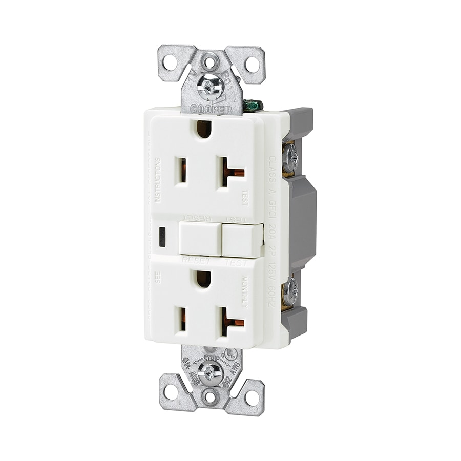 hight resolution of cooper wiring devices white 20 amp decorator commercial at lowes com cooper wiring devices 20 amp white decorator duplex electrical outlet