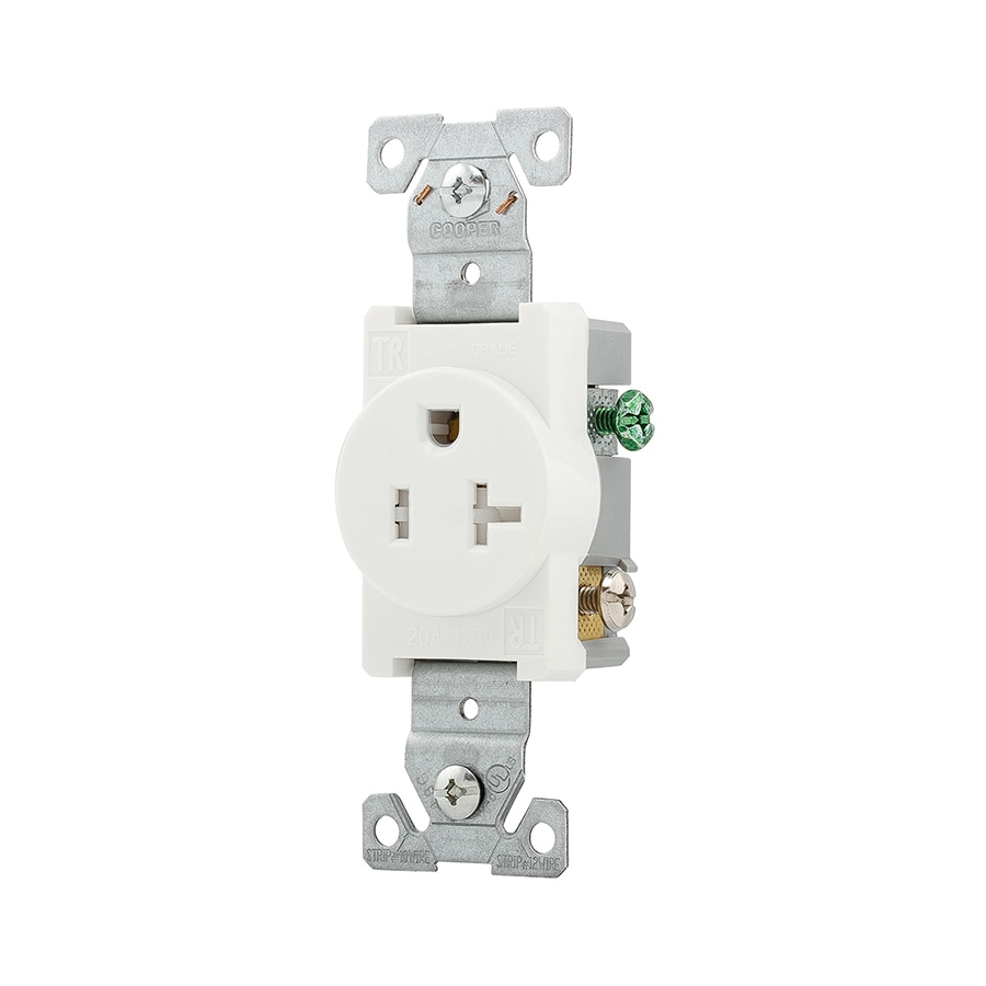 medium resolution of eaton white 20 amp round tamper resistant residential commercial outlet