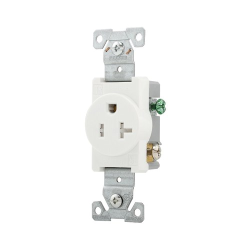small resolution of eaton white 20 amp round tamper resistant residential commercial outlet