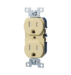 cooper wiring devices 15 amp ivory tamper resistant duplex receptacle [ 900 x 900 Pixel ]