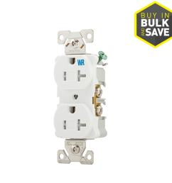 eaton white 20 amp duplex tamper resistant weather resistant commercial outlet [ 900 x 900 Pixel ]