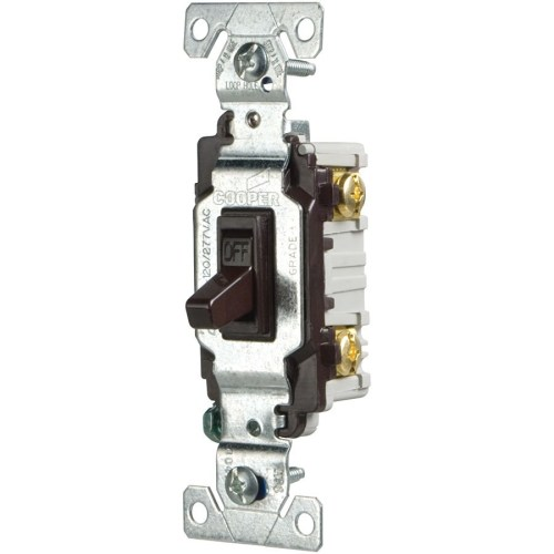 small resolution of eaton 15 amp single pole brown toggle commercial light switch at shop cooper wiring devices 15amp brown single pole light switch at