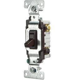 eaton 15 amp 3 way brown toggle light switch [ 900 x 900 Pixel ]