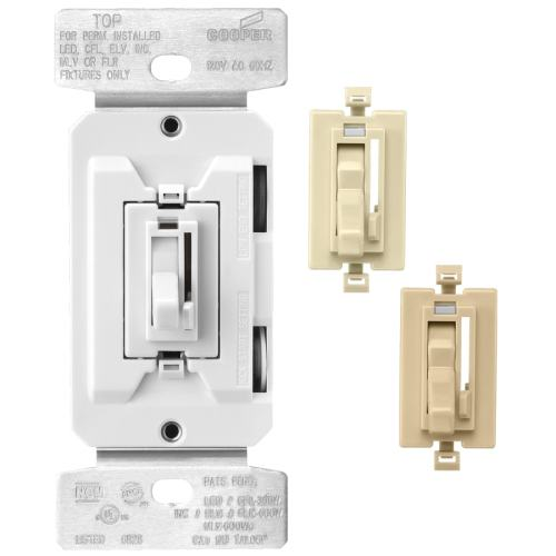 small resolution of cooper wiring devices single pole 3 way color change kit al wh iv toggle dimmer
