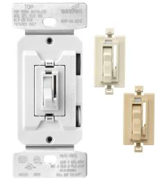 eaton 600 watt single pole 3 way white light almond  [ 900 x 900 Pixel ]