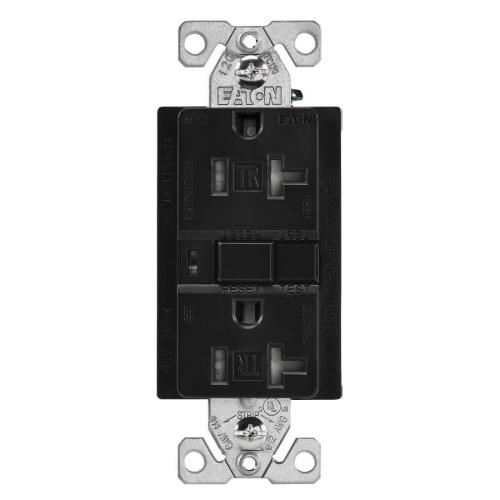 small resolution of eaton black 20 amp decorator tamper resistant afci residential commercial outlet