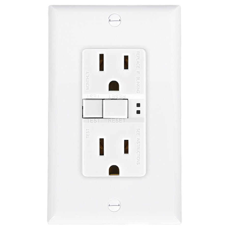 Shop Eaton 15-Amp 125-Volt White Indoor GFCI Decorator