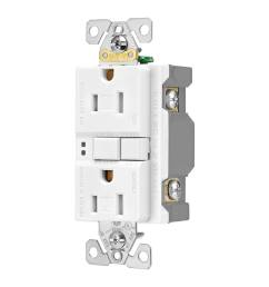 eaton white 15 amp decorator tamper resistant gfci residential 3 pack outlet [ 900 x 900 Pixel ]