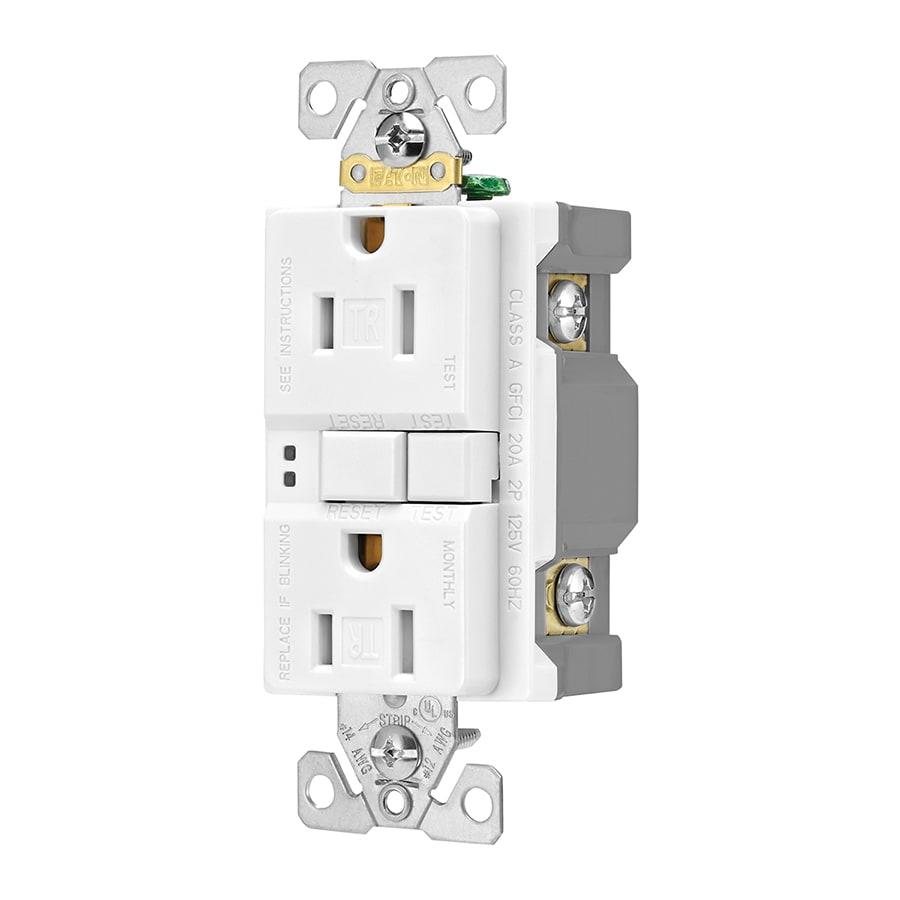 hight resolution of eaton white 15 amp decorator tamper resistant gfci residential 3 pack outlet