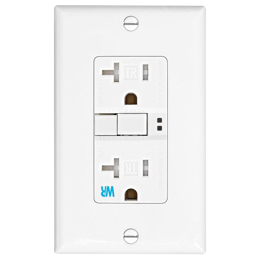 Shop Eaton 20-Amp 125-Volt White GFCI Decorator Wall