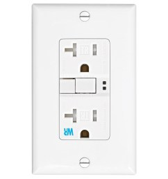 eaton white 20 amp decorator tamper resistant weather resistant gfci shop cooper wiring devices 20amp 125volt white gfci decorator tamper [ 900 x 900 Pixel ]