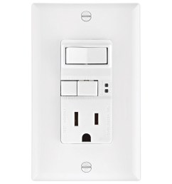 eaton white 15 amp decorator gfci residential outlet switch at lowes com cooper wiring devices 15 amp light switch and gfci single outlet [ 900 x 900 Pixel ]